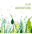 square flat banner fun our adventure everyday vector image vector image
