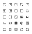 User Interface Colored Line Icons 29 vector image vector image