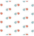 winter seamless pattern with festive red and blue vector image vector image