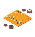 japanese board game go concept 3d isometric view vector image