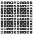 100 multimedia icons set black vector image vector image