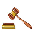 a lifted wood hammer icon cartoon style vector image