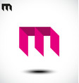 Abstract Letter M Icon vector image vector image