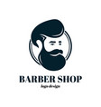 barber shop template logo design vector image vector image