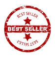 best seller stamp seal with star vector image vector image