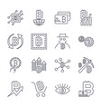blockchain cryptocurrency icons set editable vector image vector image