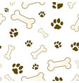 bone and paw texture vector image vector image