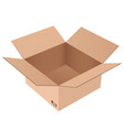 brown shipping box open carton vector image