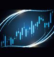 bulish stock market candle stick vector image