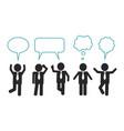 businessmen think and speak vector image vector image