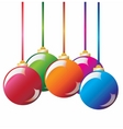 Christmas decoration Christmas ball vector image