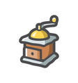 classic coffee grinder icon cartoon vector image