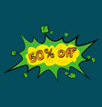 comic sound effects in pop art style vector image vector image