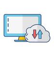 computer cloud storage vector image vector image