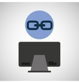 Computer device link network icon