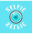 concept of selfie with lense vector image