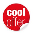 cool offer label sticker vector image