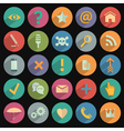 Different flat Icons for Web and Mobile vector image