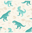 dinosaur skeleton seamless grunge pattern vector image vector image