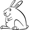 doodle bunny for coloring vector image