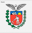 emblem of parana state of brazil vector image vector image