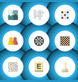 flat icon play set of pawn labyrinth jigsaw and vector image vector image