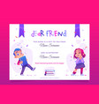 gift book banner present card to child flyer vector image vector image