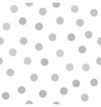 gray polka dot pattern seamless background vector image vector image