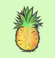 hand drawn of half pineapple vector image