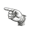 hand pointing or showing direction pointing finger vector image