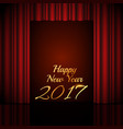 happy new year 2017 background with open red vector image vector image
