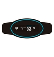 heartrate wrist monitor icon vector image vector image