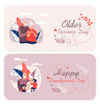informative written happy grandparents cartoon vector image