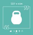 kettlebell icon symbol vector image vector image