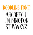 letters english alphabet for doodle font or vector image