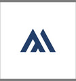 m letter logo template icon design vector image vector image