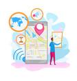 navigation application flat vector image