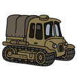 Old sand artillery tractor vector image vector image