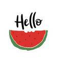 poster with watermelon vector image vector image