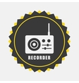recorder icon vector image