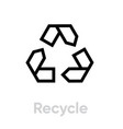 recycle sign icon editable line vector image vector image
