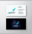 rocket space ship and cosmic background abstract vector image