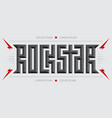 rockstar - music poster with red lightnings vector image vector image
