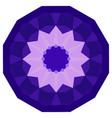 round purple geometric backdrop vector image vector image