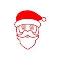 Santa Claus face icon vector image vector image