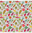 seamless background with colored doodle sketch vector image vector image