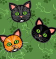 Seamless cartoon cat pattern vector image vector image