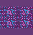 seamless pattern of colorful gender icons men and vector image vector image