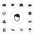 set of 12 editable shopping icons includes vector image