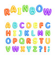 set of multicolored bright kids letters vector image vector image